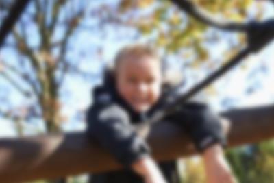A boy on a climbing frame at Lalandia