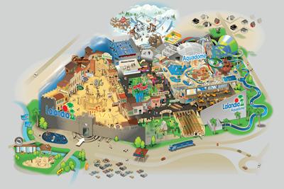 karta över lalandia billund Lalandia i Billund – semestercenter med vattenland och LEGOLAND  karta över lalandia billund
